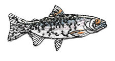 Fish - Fishing - Rainbow Trout - Fresh Water Fish - Embroidered Iron On Patch