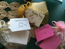 Plantable Flower Seed Paper Gift Tags ~Set of 12~ Pick Your Color