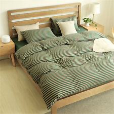 Striped Cotton Jersey Duvet Cover Only King Queen Full Size Knitting Quilt Cover