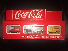 COCA COLA Rare 3 VEHICLE COLLECTION  HARTOY/DAYS GONE/ LLEDO NEW BOXED USA