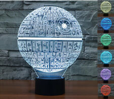 Star Wars Death Star 3D LED Night Light Touch Switch Table Desk Lamp 7 Color