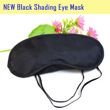 20Pcs/lot Black Sleep Eye mask Polyester Blindfold For Travel Sleeping Aid Masks