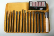 Italian Stone Carving fire-sharp carbon steel 17pc full carving set.