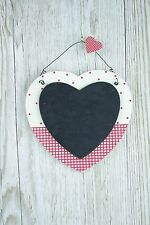 Small Heart Chalkboard Red & Cream Polka Dot Wedding Planner Kitchen Memo F0619A