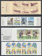 Sweden Sc 1671a, 1708a, 1712a, 1718a MNH. 1988 Issues 4 Intact Unfolded Booklets
