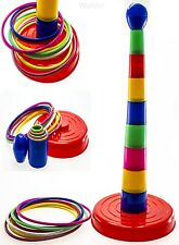"WolVol 18"" Colorful Quoits Ring Toss Game Set for Kids"
