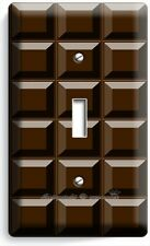 DARK CHOCOLATE BAR CUBES SINGLE LIGHT SWITCH WALL PLATE CHEF KITCHEN ROOM DECOR