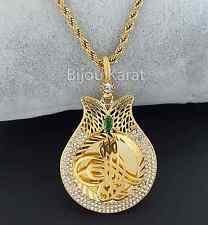 Osmanli Tugra altini Kolye Ceyrek 24 Karat Altin Zincir Gold Kette Goldkette