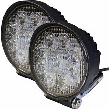 27W Spot Led Light Round Offroad For Atv Trailer Plow Truck Jeep SUV Utv 12