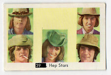 1960s Swedish Pop Star Card #39 Pre Abba Hep Stars with Beatles Sectional Back