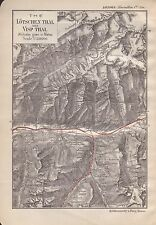1903 ANTIQUE MAP- SWITZERLAND-THE LOTSCHEN THAL & VISP THAL