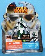 NEW Card Star Wars Saga Legends Action Figure SL15 SW Commander Gree Clone Wars