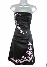 Jane Norman Satin Embroidered Embellished Evening Occasion Dress Size 10