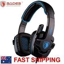 SADES WOLFGANG SA901 7.1 Surround Headset Noise Reduction Microphone Chat PC USB