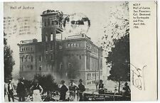 Antique Postcard 1906 San Francisco Earthquake Hall of Justice