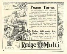 WW1 Rudge Multi Winner Trophy Race Isle Of Man Ad