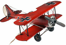 Red Baron Airplane Metal Model - Vintage World War 1 Design Plane Ornament