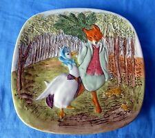 "BEATRIX POTTER Collector Plate BESWICK: Fox & Goose,7 3/4"",1979 1ST EDITION"