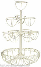 Kitchen Craft Classic Collection Tall Round Cream Wire Egg Tree Stand / Holder