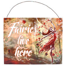 Fantasy Gothic Art Metal Wall Plaque~Sign~Autumn Fairy~by Anne Stokes~1~uk