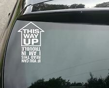 This way up Funny Car/Bumper/Window JDM VW EURO Vinyl Decal Sticker 200mm