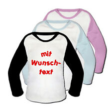 Baseball Baby T-Shirt mit Text NEU Schwarz 68
