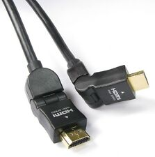 Maxicom HDMI to HDMI 90/180 Degree(L shape) High Speed Cable Black - 1.5M