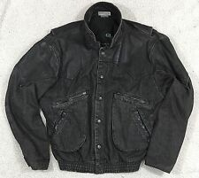 "Guess Men's Vintage 1986 Denim/Leather Jacket Coat ""Back to the Future"" Medium"