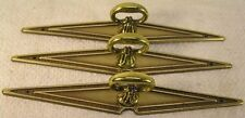 6 Vintage Brass Handles Pulls Knobs Cabinet Furniture Hardware