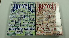 BICYCLE TABLE TALK PLAYING CARDS 2 DECK SET 1 BLUE & 1 RED NEW SEALED