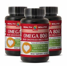 Concentrated Omega 3 - OMEGA 8060 1500MG - Boosts Blood Flow to the Brain - 3B