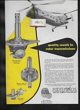PIASECKI HELICOPTER H-21 US AIR FORCE WORK HORSE FOOTE BROS GEARS AD