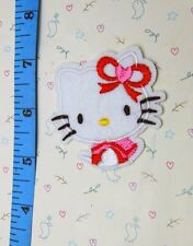 1 pcs bow Hello Kitty Sewing Notions Patch Iron On Embroidered Appliques