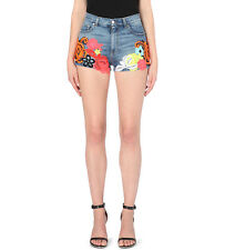 **CHRISTOPHER KANE** Floral Embroidered Denim Shorts **£1100.00**