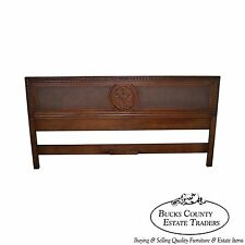 Quality Solid Walnut French Style Cane Panel King Size Headboard