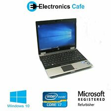"HP Elitebook 2540p 12"" Laptop/Notebook 2.13GHz Core i7 4GB DDR3 160GB Windows 10"