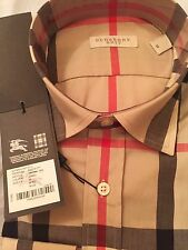 Burberry Brit Camel Check Casual Men's Shirt Size M