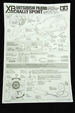 Vtg 2000 TAMIYA Mitsubishi Pajero Rally Sport -USER MANUAL- 1/10 RC Japan 57701