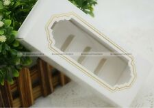 10pcs White Macaron (Macaroon) Cookie Mini Cupcake Box Case