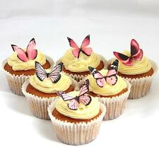 Cakeshop PRECUT 12 Light Pink Edible Butterfly Cake Cupcake Toppers Decorations