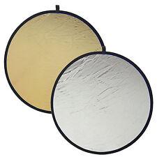 Pannello Riflettente 2in1 80cm Pieghevole con Superficie Argento Oro