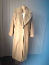 WINDSMOOR Ladies Camel Long Coat Size UK 10/12  Worn Once 1920s 30s Style