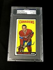 TERRY HARPER SIGNED TOPPS 1964 TALL BOYS MONTREAL CANADIENS CARD #3 PSA/DNA AUTO