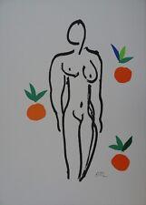 """Henri MATISSE : """"Nu aux oranges"""" LITHOGRAPHIE SIGNEE EN COULEURS # RARE # RIVES"""