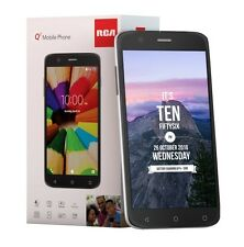RCA Q1 4G LTE, 16GB, Unlocked Dual SIM Cell Phone, Android 6.0 Black