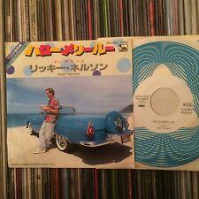 """RICKY NELSON HELLO MARY LOU ROCKABILLY JAPAN PROMO 7"""""""