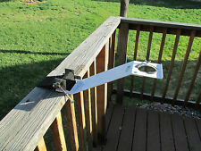As seen on HGTV, Patio Umbrella Support Bracket, Strap on will fit most railing