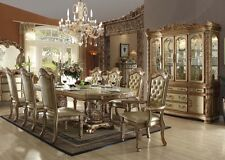 "Acme ""Vendome"" Traditional 9 Piece Gold Dining Set Furniture 63000"