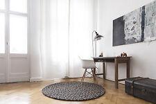 myfelt Otto 180 cm Design Teppich braun Wolle Filzkugelteppich Kinder-Teppich