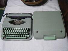 Vintage Hermes Rocket Portable Typewriter in Case  Sea Foam Mint Green